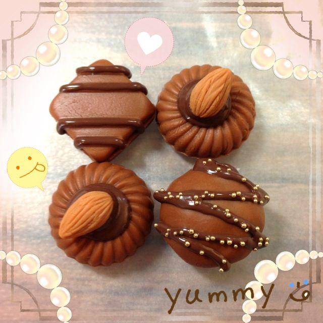 Chocolate~ #clay #handmade #faux #fakefood #fakesweets #sweetdeco #craft #DIY #instagram #pinkpanda