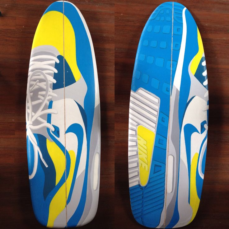 "5'10"" mini simmons Nike Airmax Surfboards"