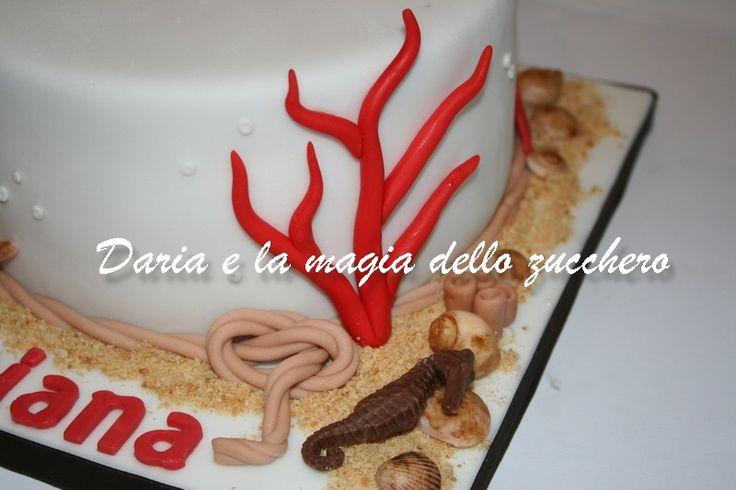 #Torta mare #Sea cake #Coral sea cake #Stelle marine #Starfish #Corallo #Coral #Seahorse #Cavalluccio marino #Ippocampo