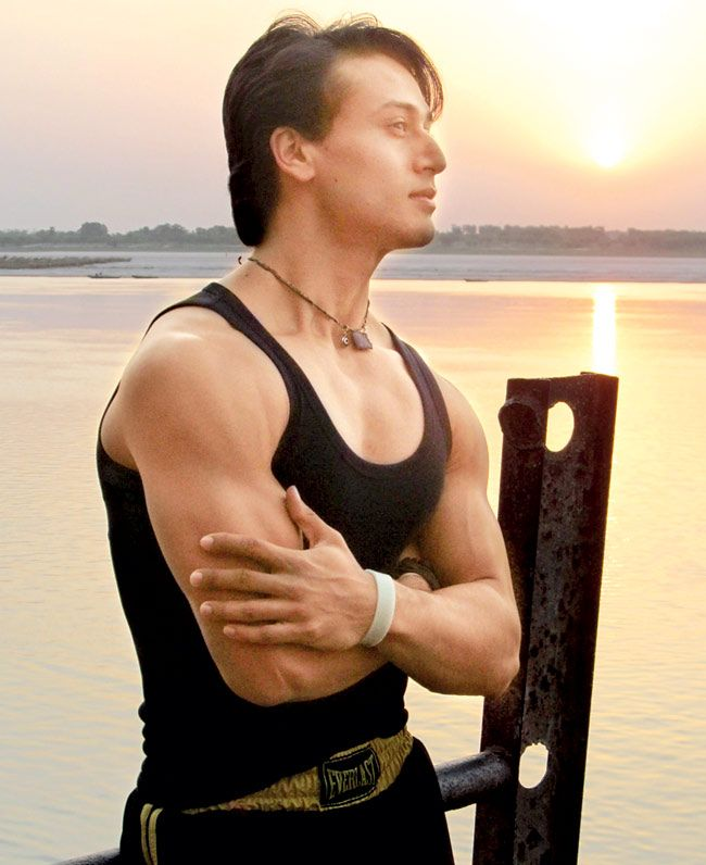 Tiger Shroff at the Tulsi ghat. #Style #Bollywood #Fashion #Handsome