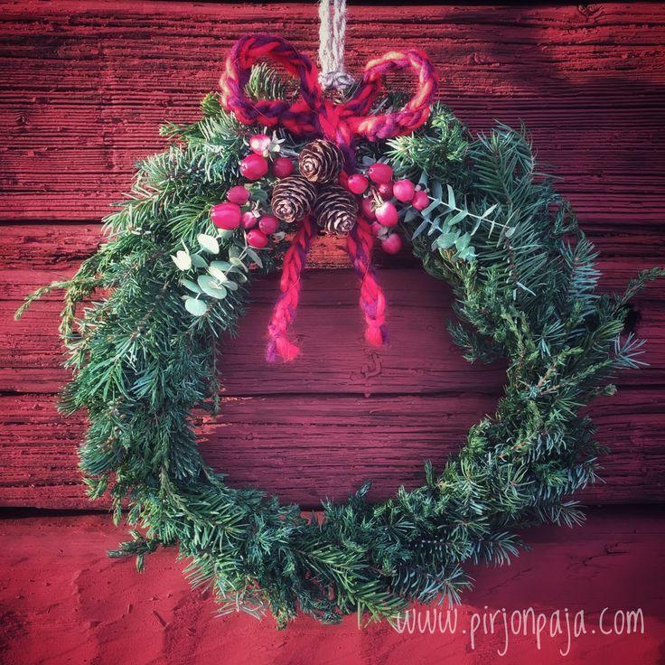 Kranssi, joulukranssi, wreath, Xmas wreath, kranser, joulu, joulukoriste, DIY