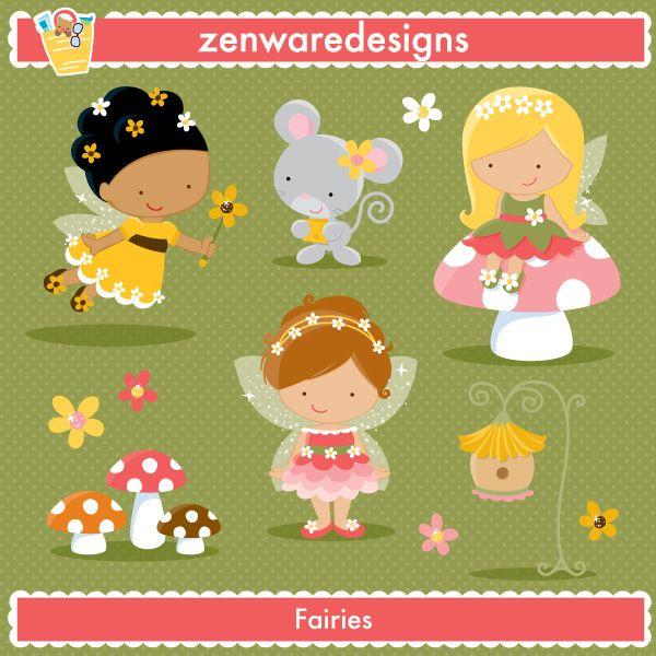Inspiration for Felt Projects | Cute Fairies Clipart