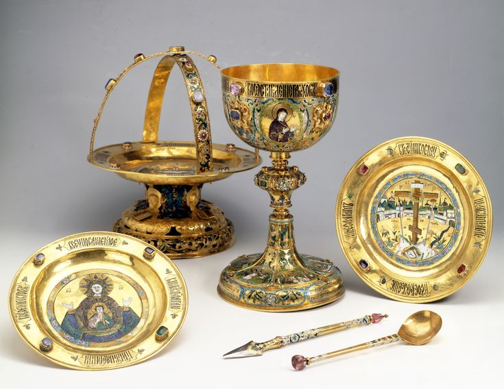 Russian Holy Communion Enamel Set