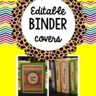 """This freebie includes 5 editable binder covers and editable spine covers for 1"""", 1.5"""", 2"""", 2.5"""", and 3"""" inch binders!   If you have any questions, ..."""