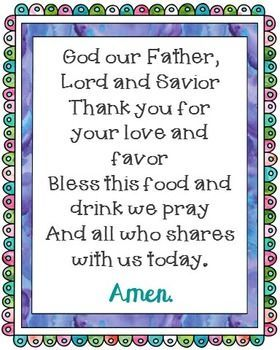 God Our Father Poster. Comes in JPEG for large posters and a PDF to print from your desktop. Prayer, Blessing, Mealtime, for Kids, for Children.
