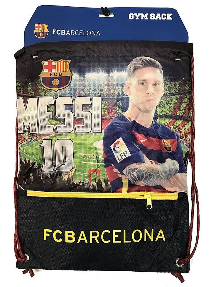 Messi Cinch Bag Sack Fc Barcelona Soccer Book  Backpack Authentic Official #Icon #FCBarcelona