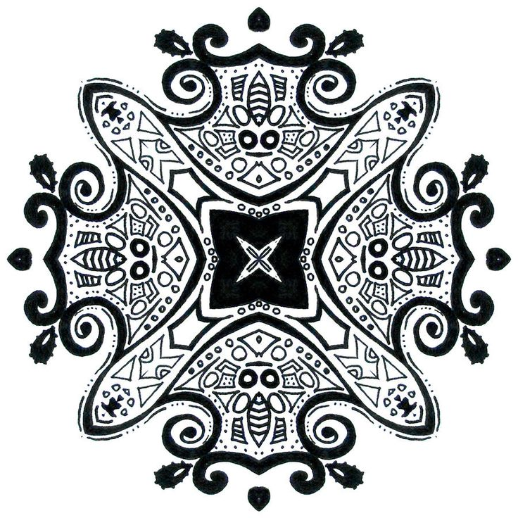 Geometric. Ink Mandala by Lindsay Kokoska