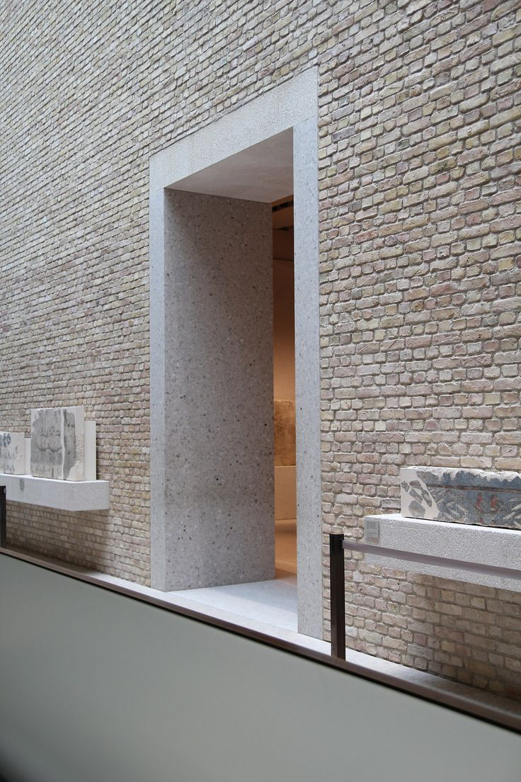 pale brick walls create a soothing, modern texture. neues museum | berlin by david chipperfield architects