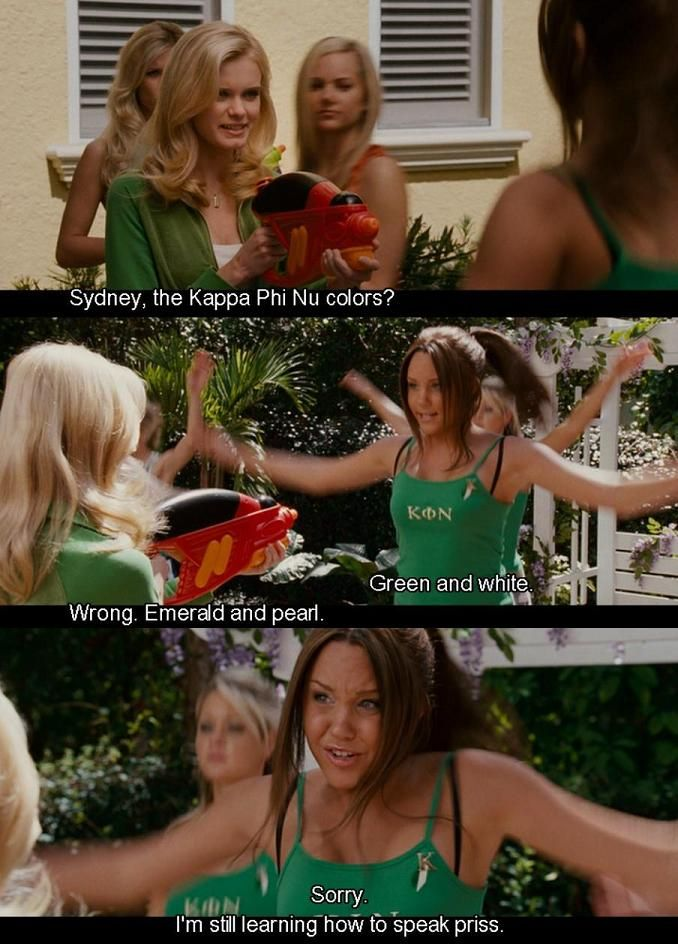 Haha but it's true. Pi Phi colors are not red and blue, they're wine and silver blue.