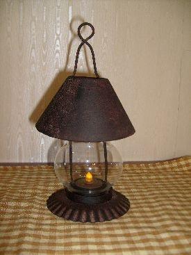 Dresser lantern w/tea light candle~$20