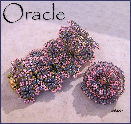 Oracle    Voilà une nouvelle parure, dans le style de la dentelle, avec les Twin beads. Je l'ai appelée Oracle ;)