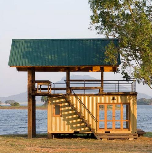 Sri Lankan Lakeside Retreat | #OrganicSpaMagazine: Container Homes, Building, Container Houses, Lakes Houses, Tiny Houses, Cabins, Sri Lanka, Ships Container Home, Shipping Containers