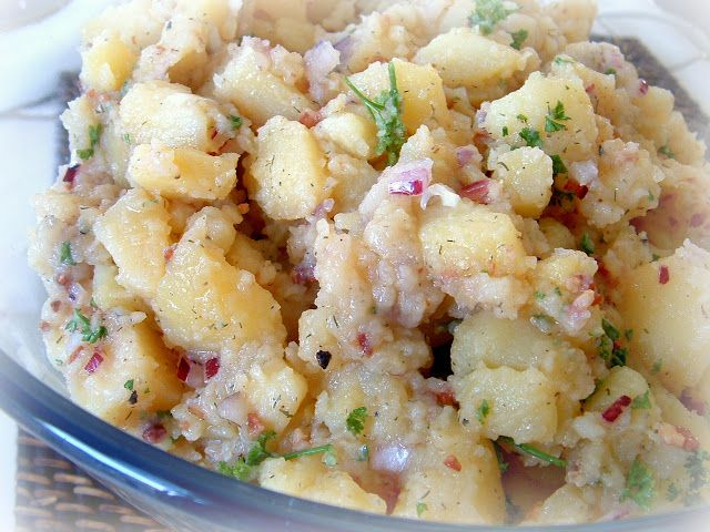 Authentic German Potato Salad (Bavarian Kartoffel Salat), from My Mutti by A Feast for the Eyes