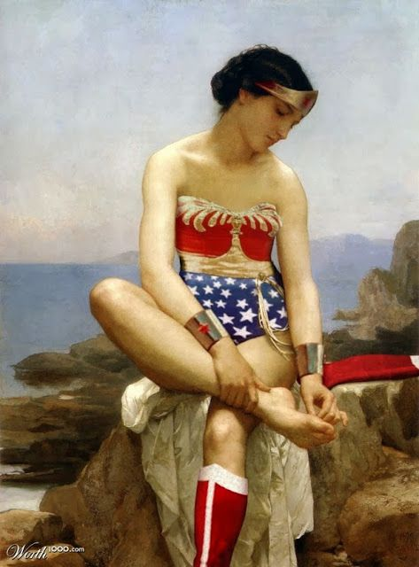 Renaissance art re-envisioned with modern superheroes.