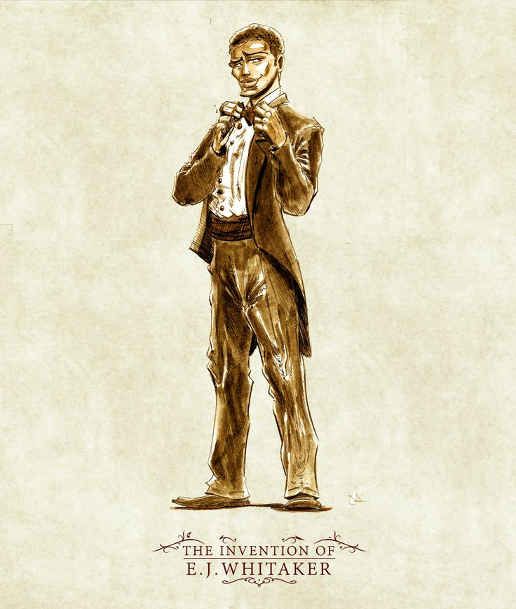 "Character Design of protagonist, William, from the steampunk comic adventure, ""The Invention of E.J. Whitaker.""  
