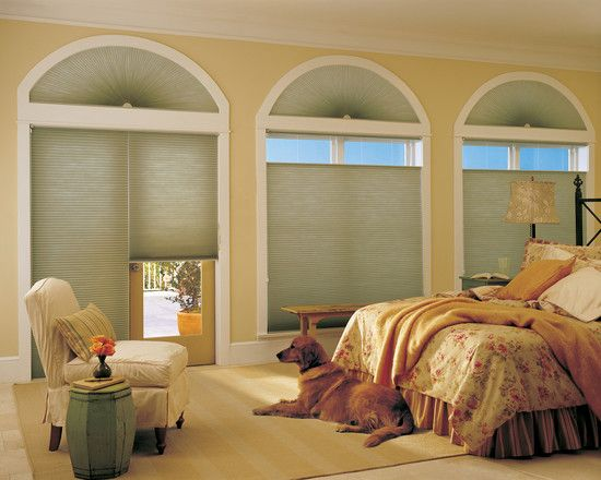 , Charming Eclectic Patio Door Window Treatment Also Arch Windows Style Also Handsome Golden Retriever Dog Also White Armless Chair Also Green Nightstand Also Adorable Rug Design: Easy Window Treatment for Patio Doors