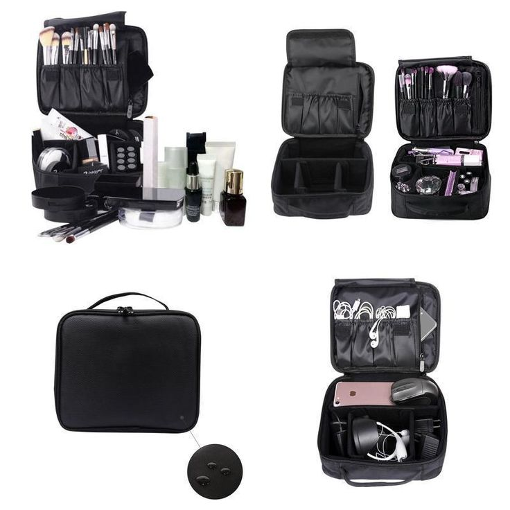 Professional Makeup Case Box Cosmetic Organizer Waterproof Beauty Storage Bag US #Imcolorful #Suitableformenandwomenuse