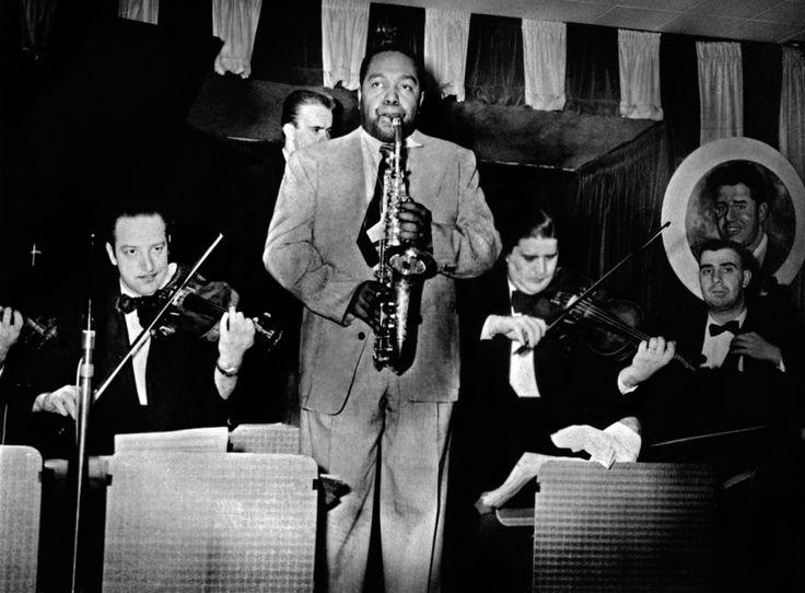 Charlie Parker and strings at Birdland, 1951