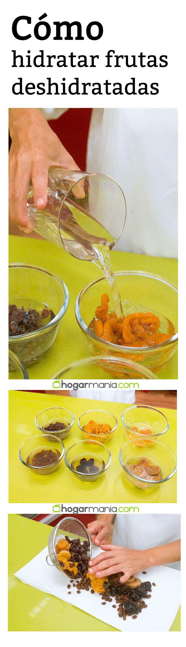Cómo hidratar frutas deshidratadas. #hogarmania #eva #arguiñano #frutas #deshidratadas #tecnica #cocina