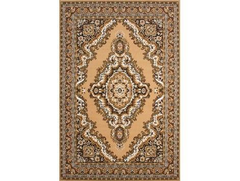 dcouvrez le tapis oriental beige par excellence le velours est entirement de polypropylne son