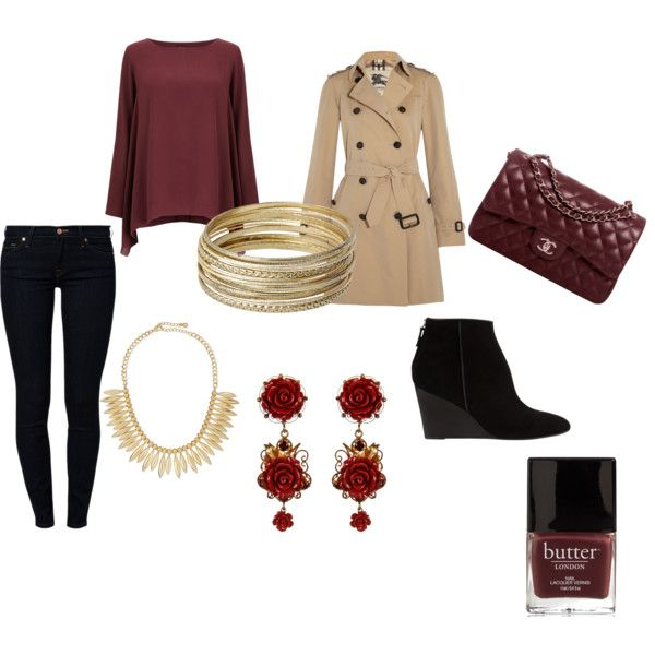 Business Casual by briellekozicki on Polyvore featuring Phase Eight, Burberry, 7 For All Mankind, Whistles, Chanel, Dolce&Gabbana, Jules Smith and Steve Madden