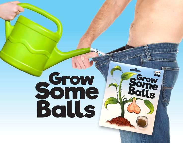 Grow Some Balls! Secret Santa gift from HahaGifts! https://www.haha-gifts.com #badsanta #secretsanta