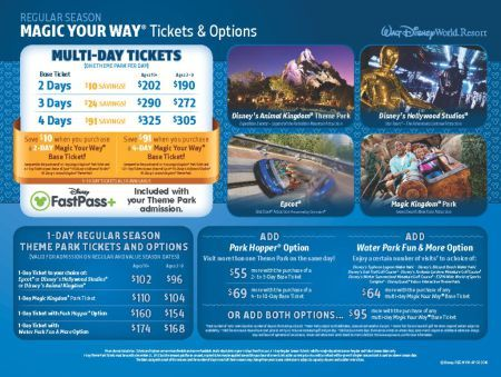 New Disney Ticket Prices And Tier System Moderate Season
