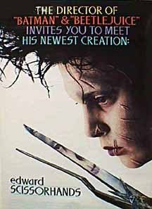 Edward Scissorhands. Visually beautiful, & such a great tale. I wish all Burton-Depp collaborations were as beguiling as this & Ed Wood.