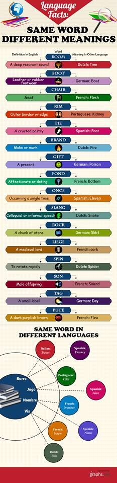 SAME WORDS, DIFFERENT MEANING #infographic #LOL