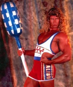 90severyday:  American Gladiators… lol   Someone stick a fork in this guy – I think he's done.