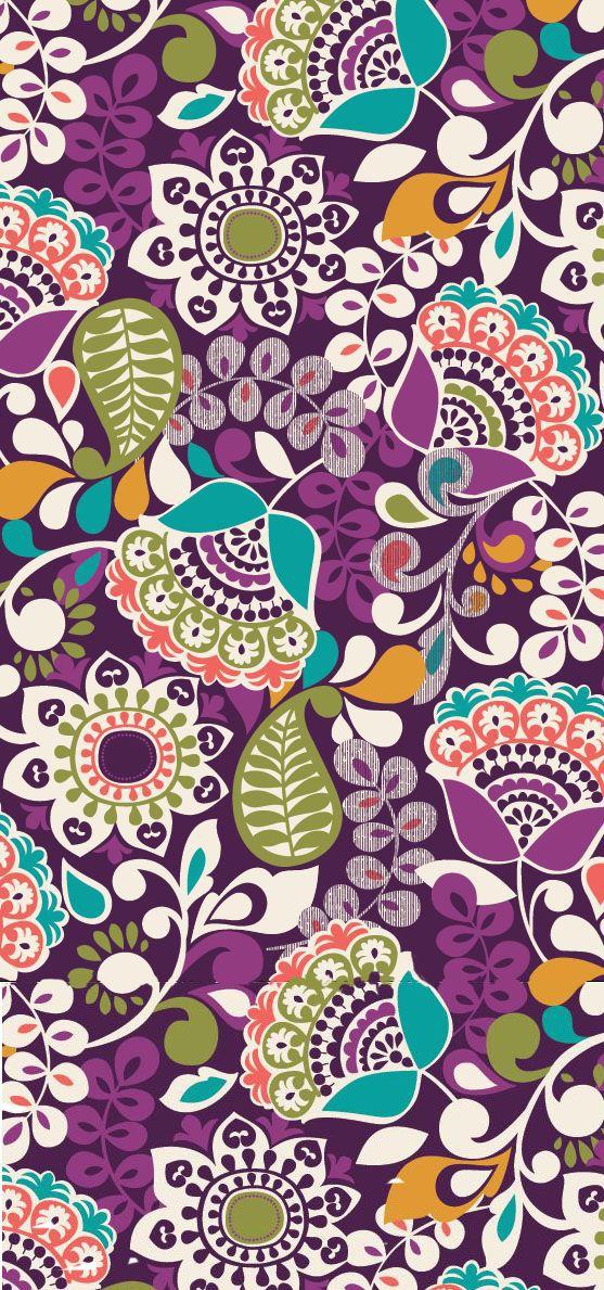 vera bradley plum crazy pattern
