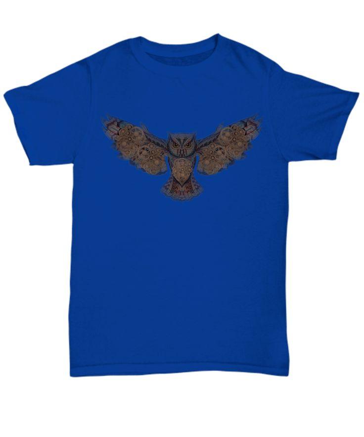 Steampunk Powered Owl T-Shirt