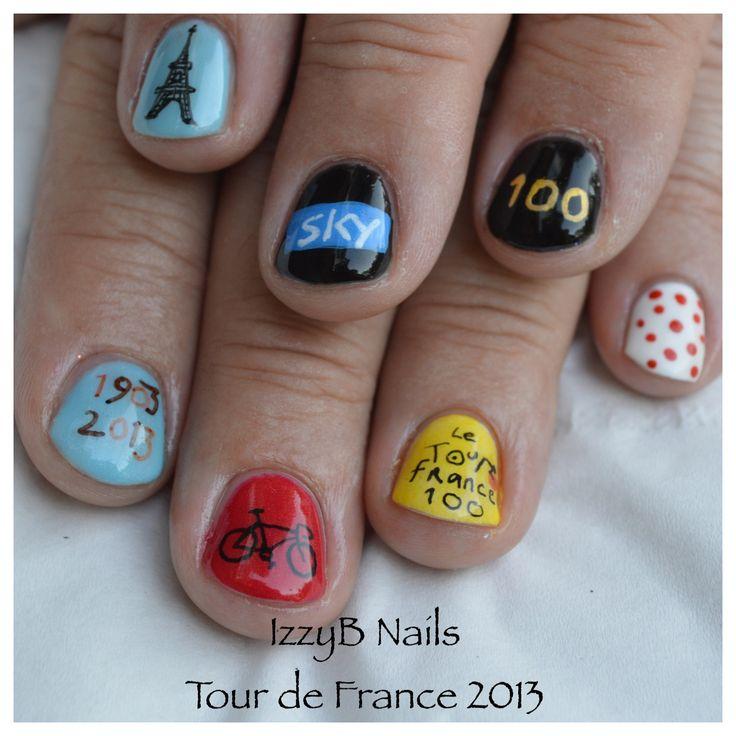 9 tour de france nail art