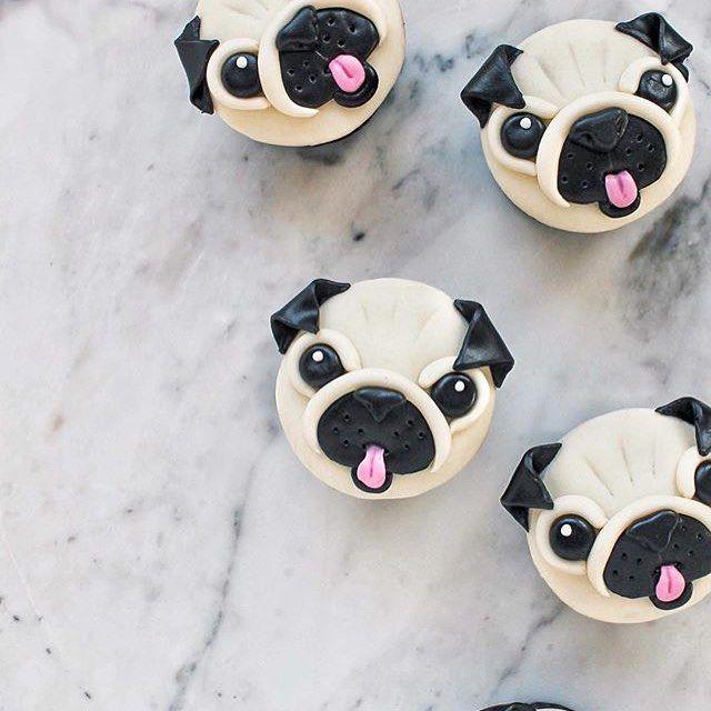 Pug Cupcake Toppers Pug Party Pug Cake Pug Cupcakes Pug