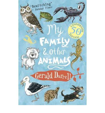 "ENGLAND-GREECE: My Family and Other Animals. ENGLAND - Gerald Durrell. ""Sometimes it's pretty hard to tell them apart - my family and the animals, that is. I don't know why my brothers and sisters complain so much. With snakes in the bath and scorpions on the lunch table, our house, on the island of Corfu, is a bit like a circus. So they should feel right at home."""