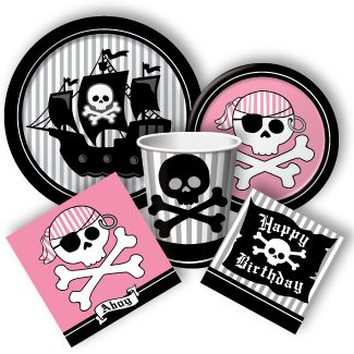 pirate birthday plates for boy and girl