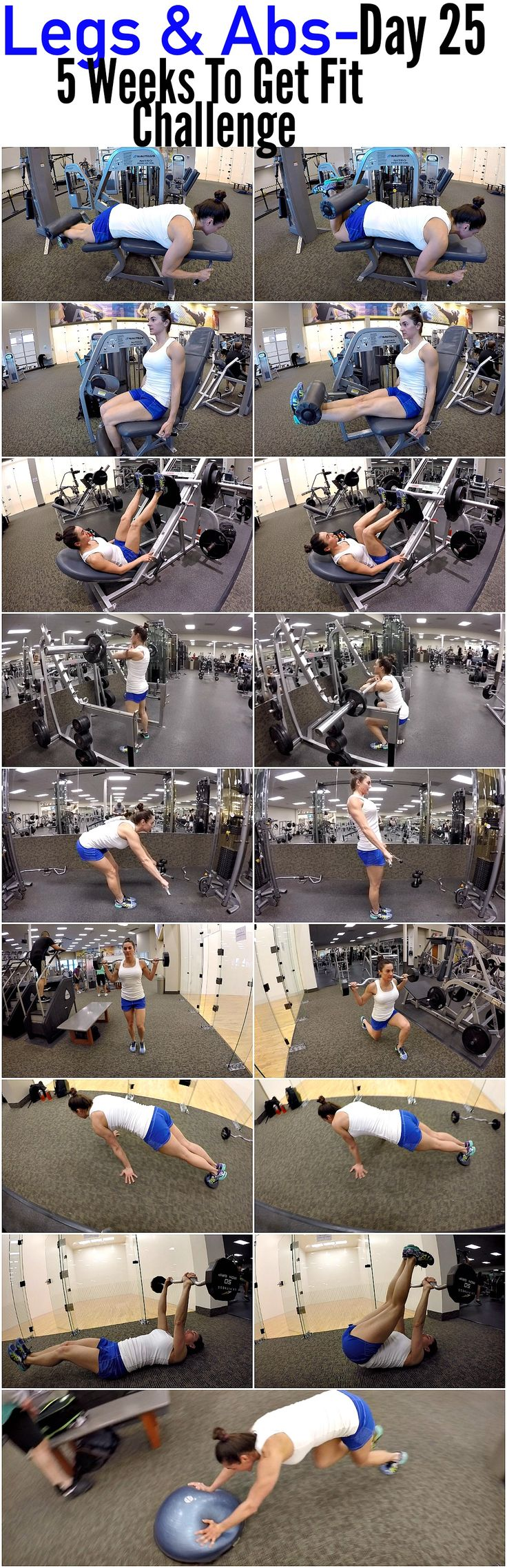 5 Weeks To Fit Get Challenge Day 25-LEGS & ABS