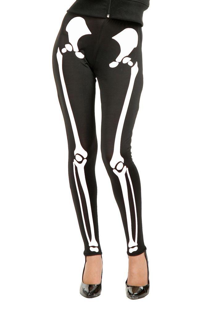 Adult Skeleton Leggings #Charades