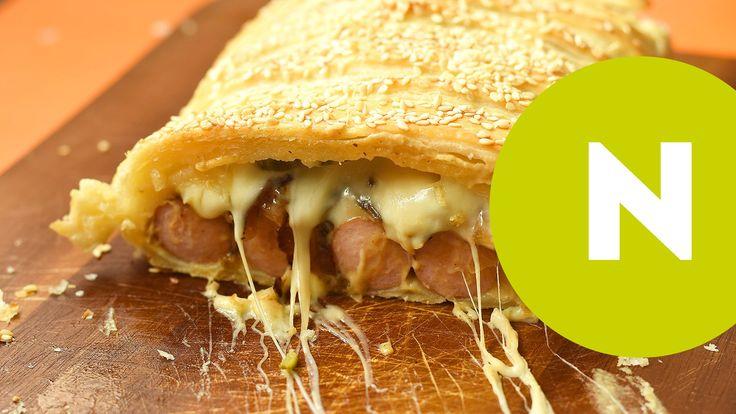 Hotdog leveles tésztában