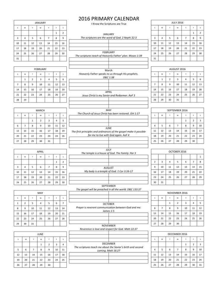 The 25+ best Primary calendar ideas on Pinterest Story of jesus - microsoft word weekly calendar