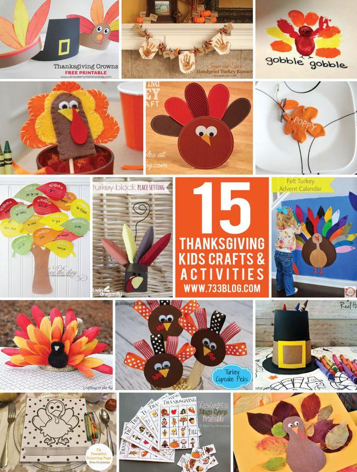 15 Thanksgiving Kids Crafts & Activities