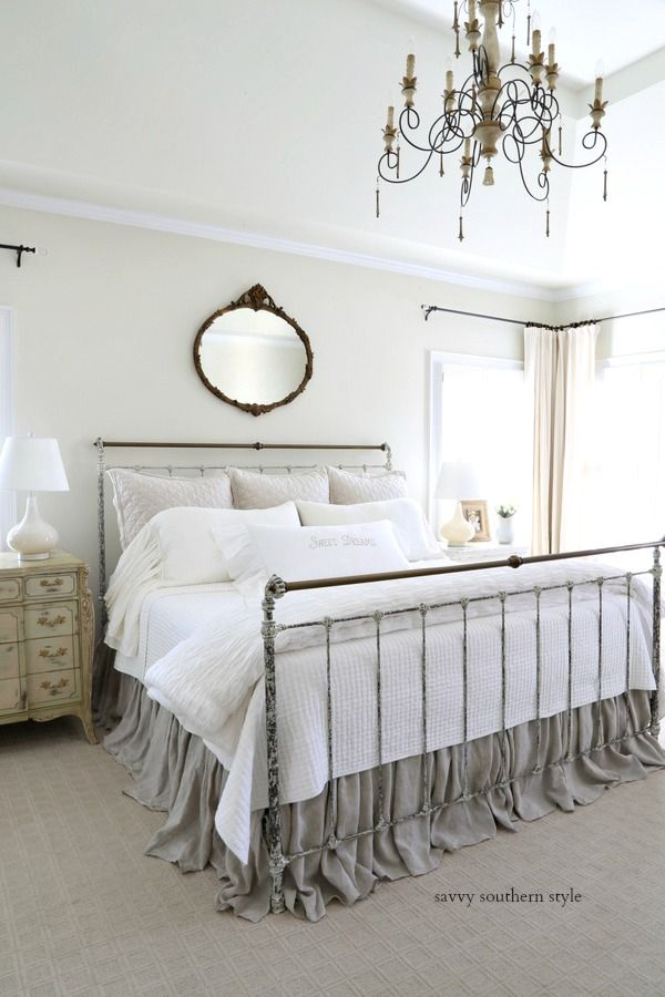 The Brighter Master Bedroom Reveal With Images French Country