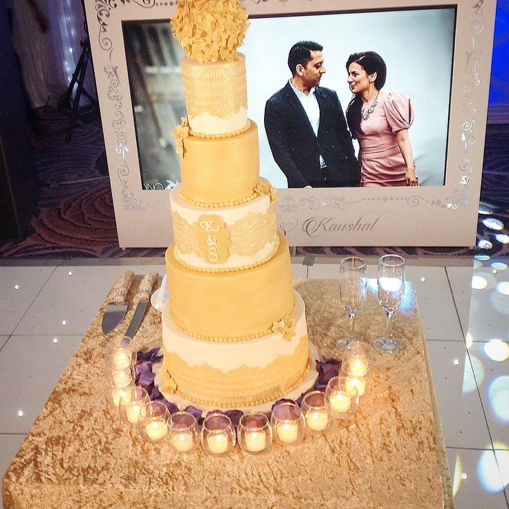 Asian five tier wedding cake , delivered and set up at Nottingham Belfry