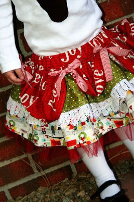 A Couple of Craft Addicts: Layered Holiday Skirt