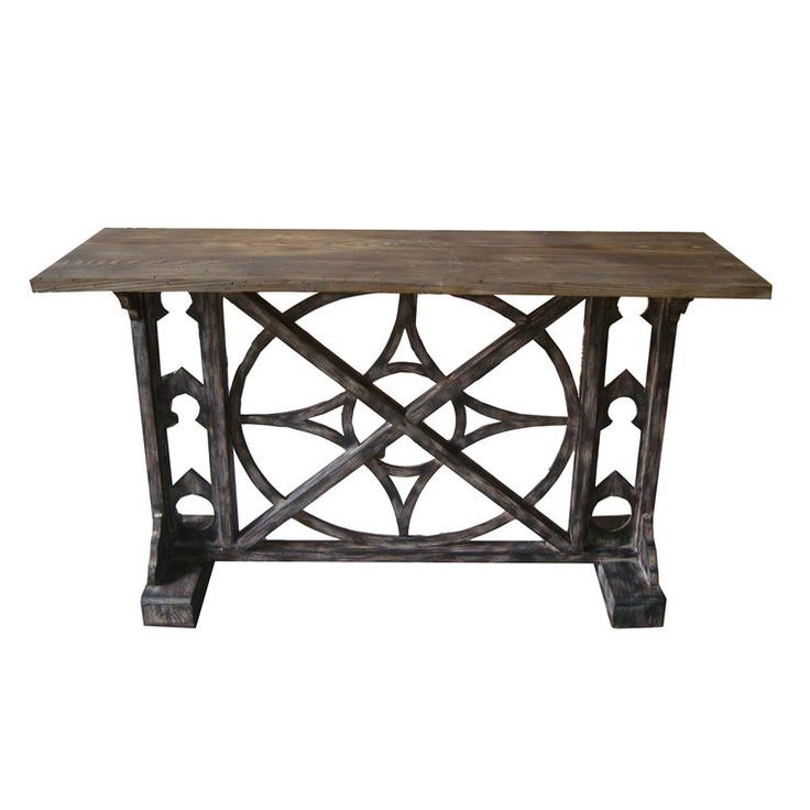 distressed wood console table 52x30 - Dining Room Consoles