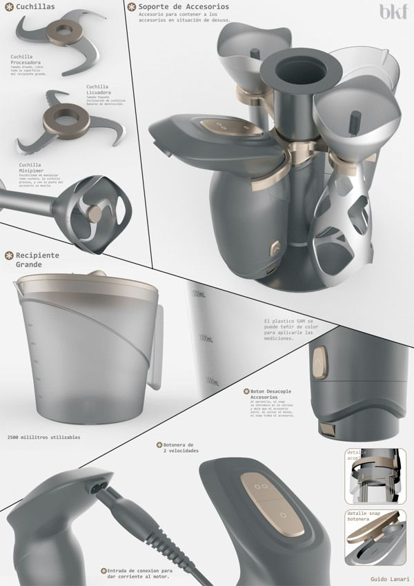 Kitchen Appliances by Guido Lanari, via Behance