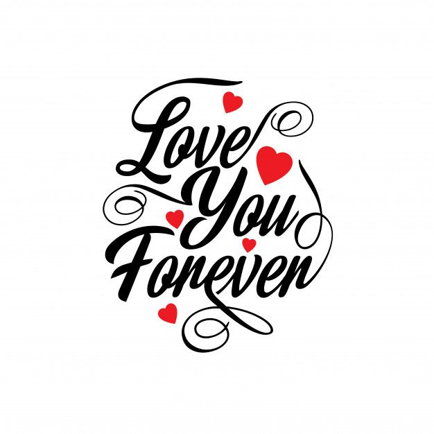 Download Love you forever Free Vector | Free Vector #Freepik # ...