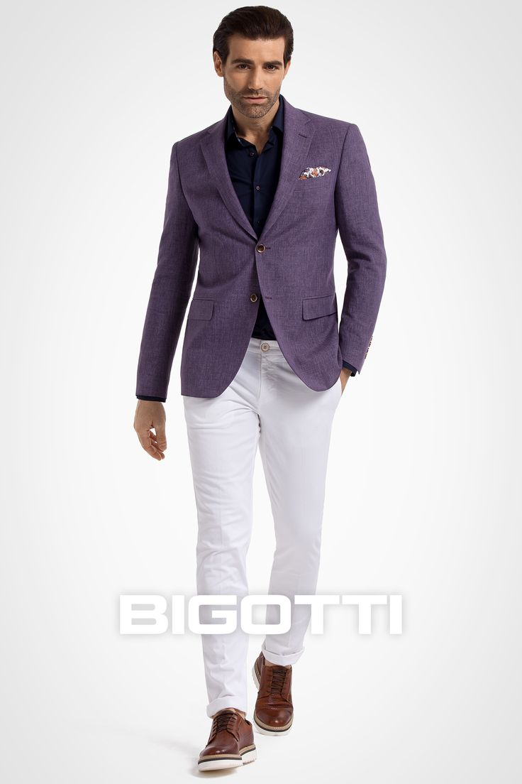 The #linen #blazer – a #refined #summer #piece . #Browse and #shop on www.bigotti.ro or in #Bigotti #men #clothing #stores