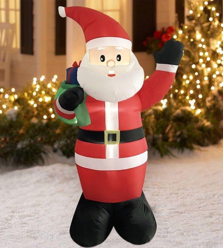 Christmas Santa Airblown Inflatable 8.5 Ft Yard Waterproof Lighted Xmas Decor #easy_shopping08