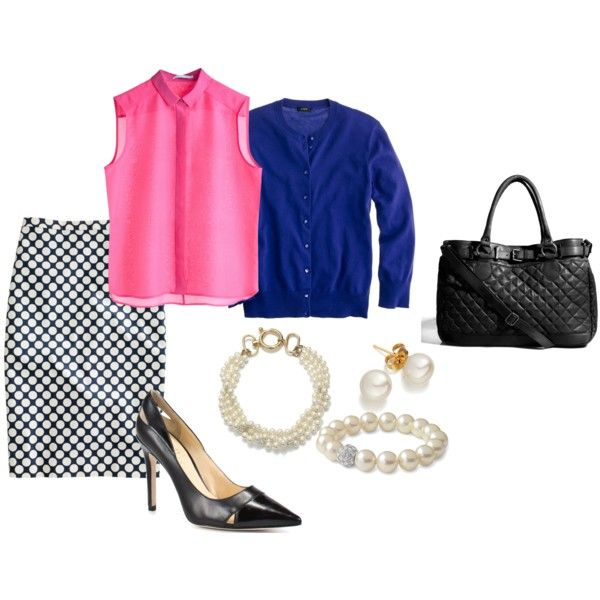Preppy Work Outfit #2, created by mdkopf on Polyvore